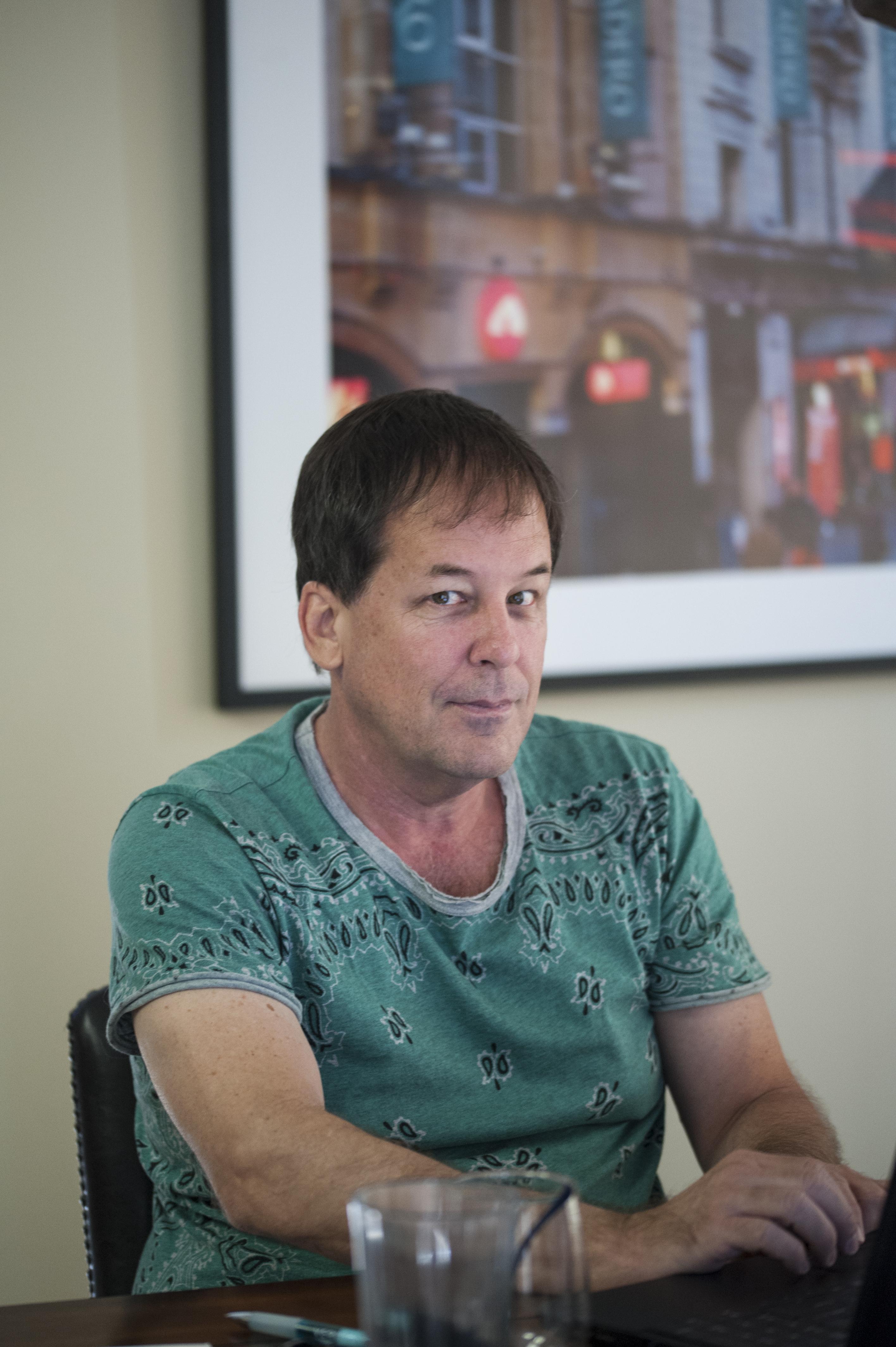Ken Eade at Desk